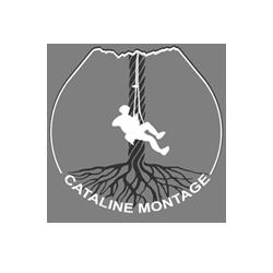 logo Cataline en noir et blanc
